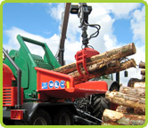 Our Heizohack 14-800 wood chipping machine in action